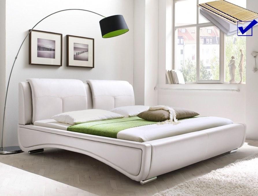 Polsterbett Syrus Bett 180X200 Cm Weiß Mit Lattenrost Matratze von Bett 180X200 Inkl Matratze Und Lattenrost Photo