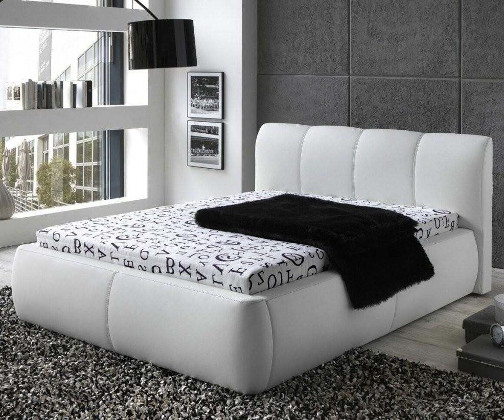 lederbett polsterbett amor leder bett weiss schwarz 100x200 140x200 von bett 140x200 wei. Black Bedroom Furniture Sets. Home Design Ideas