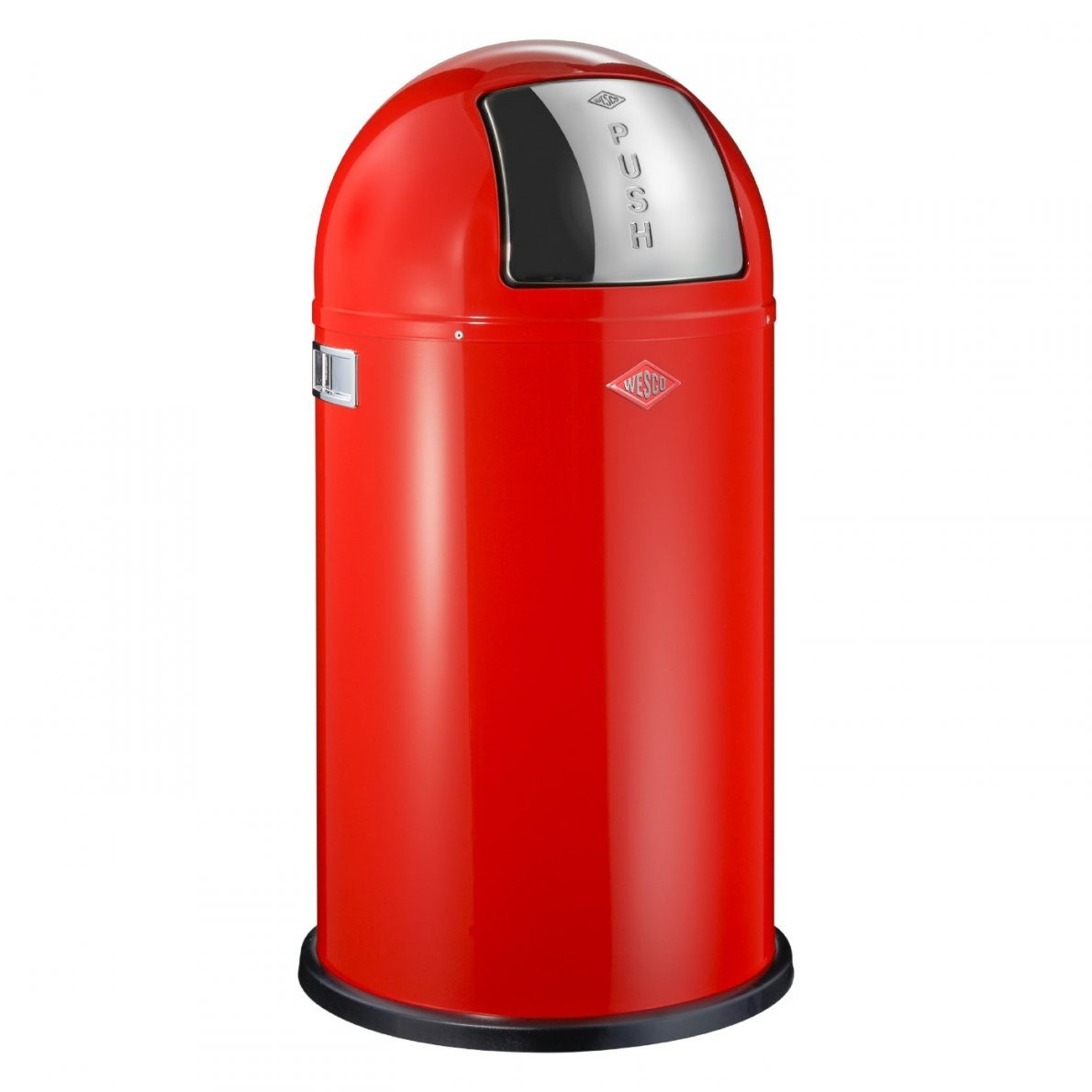 Pushboy 50 Liter Rot Mülleimer  Wesco Onlineshop von Mülleimer Küche Wesco Photo