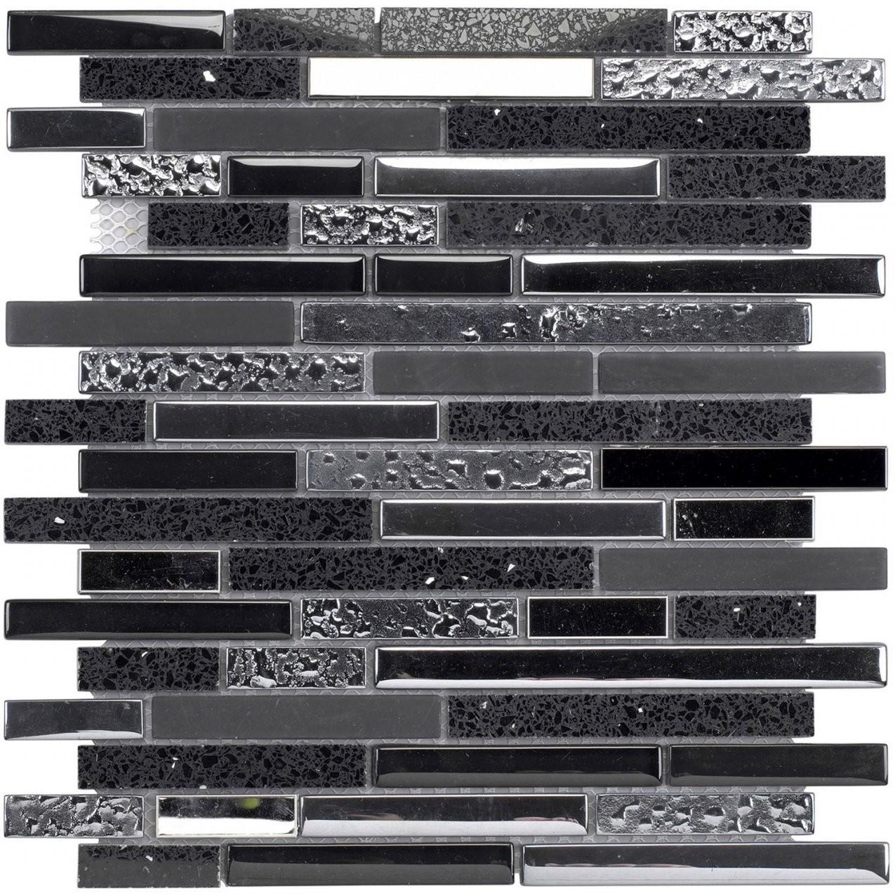 Quarzmosaikmatte Schwarz 30 Cm X 30 Cm Kaufen Bei Obi von Mosaik Fliesen Obi Bild