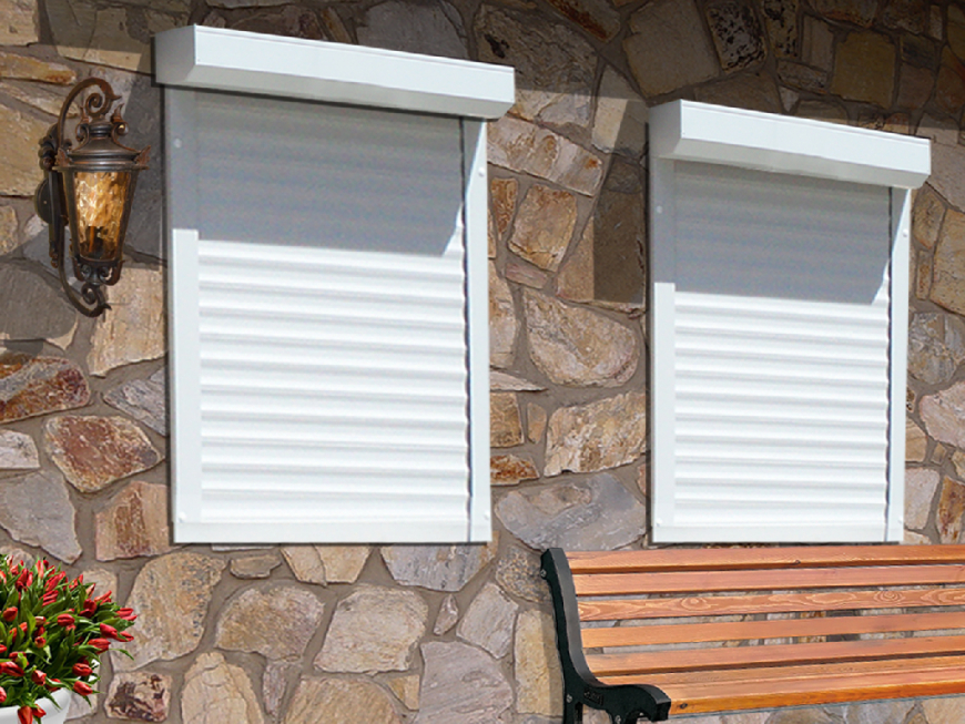 Rolladen Und Vorbaurolladen Auf Maß In Fachhandelsqualität von Fenster Rollos Außen Bild