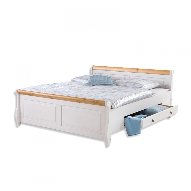 Roller Bett Malta  Weiß  Kiefer Massivholz  140X200 Cm  Roller von Roller Betten 140X200 Bild