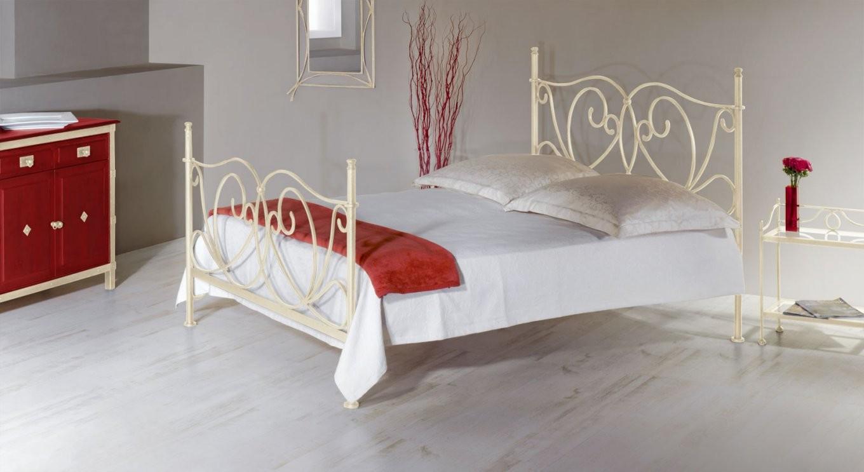 Romantisches Metallbett In Weiß 140X200 Cm  San Pedro von Bettgestell 140X200 Metall Bild