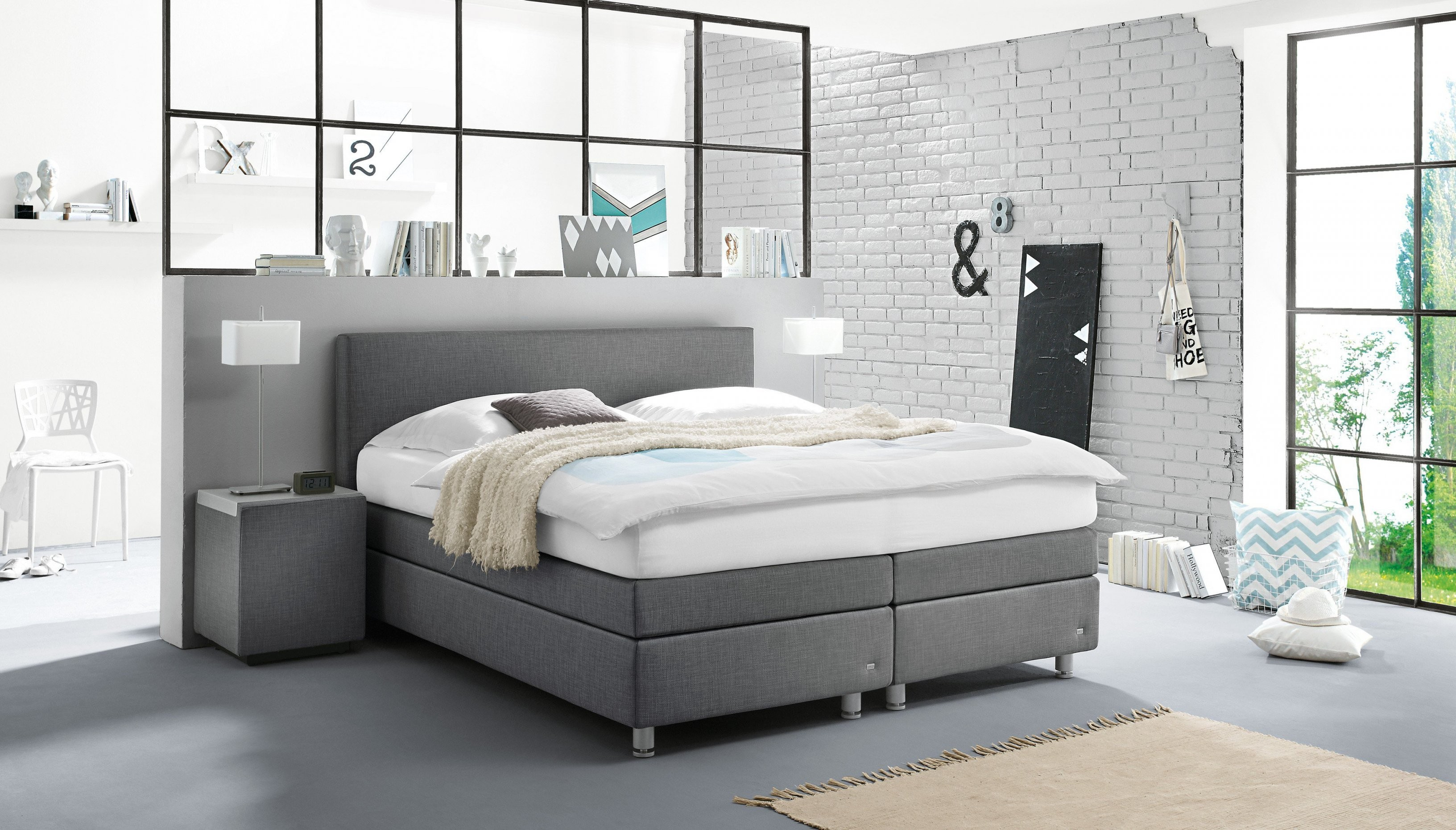 Ruf Betten Verena Boxspringbett In Grau  Möbel Letz  Ihr Onlineshop von Ruf Betten Matratzen Photo
