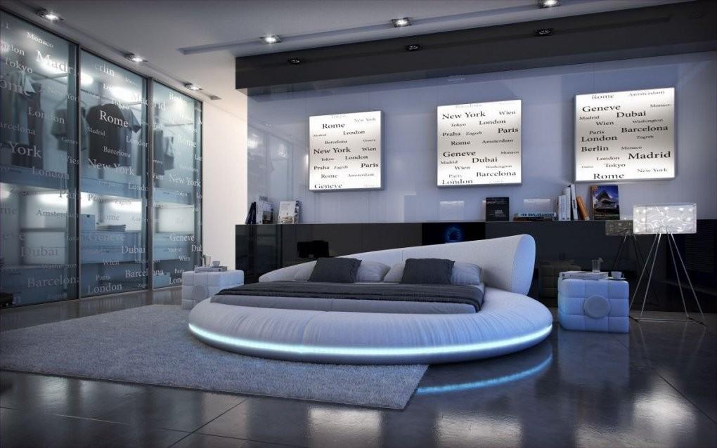 Rundbett Mezzo 180X200 Mit Led Beleuchtung  Designerbett von Bett Mit Led Beleuchtung 180X200 Bild