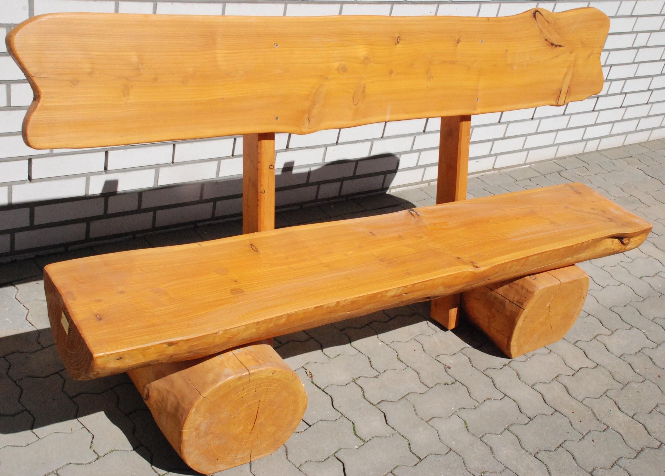 Rustikale Gartenbank  Holz & Garten von Holzbank Garten Rustikal Photo
