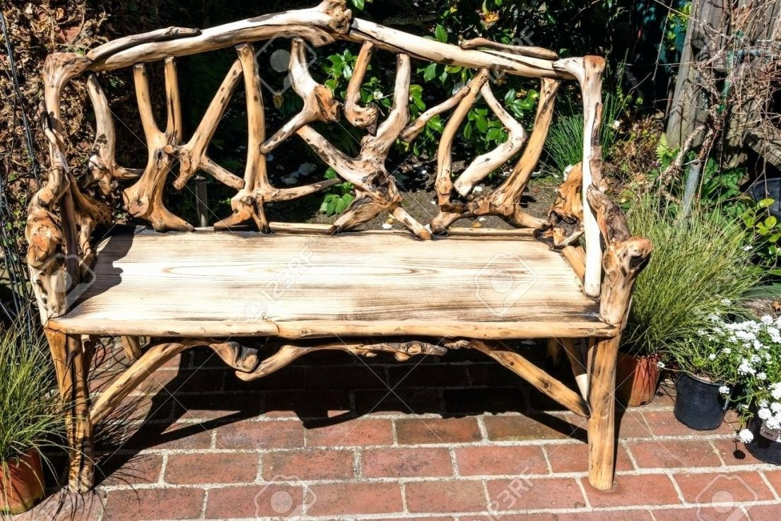 Rustikale Holzbank Selber Bauen  Einzigartig Gartenbank Selber von Holzbank Garten Rustikal Bild
