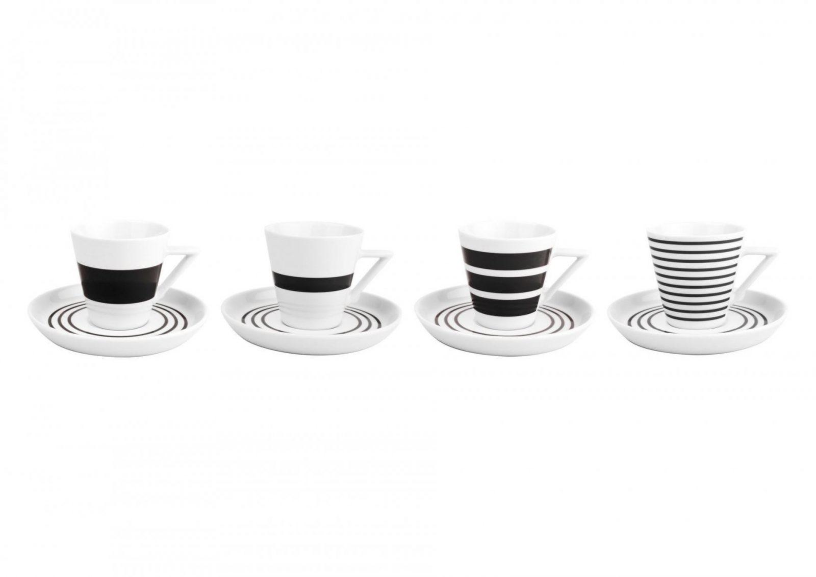Salt En Pepper Tassen En Ondertassen Black Stripes  Geschenken von Kaffeetassen Set Glas Bild