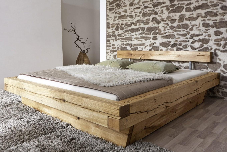 Sam® Balkenbett 200X200 Massivholzbett Mit Bettkasten Wildeiche von Bett Holz 200X200 Photo