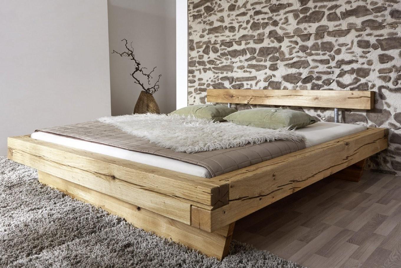 Sam® Balkenbett Wildeiche Massiv 200 X 200 Cm Massivholzbett Jakob von Massivholz Bett 200X200 Bild