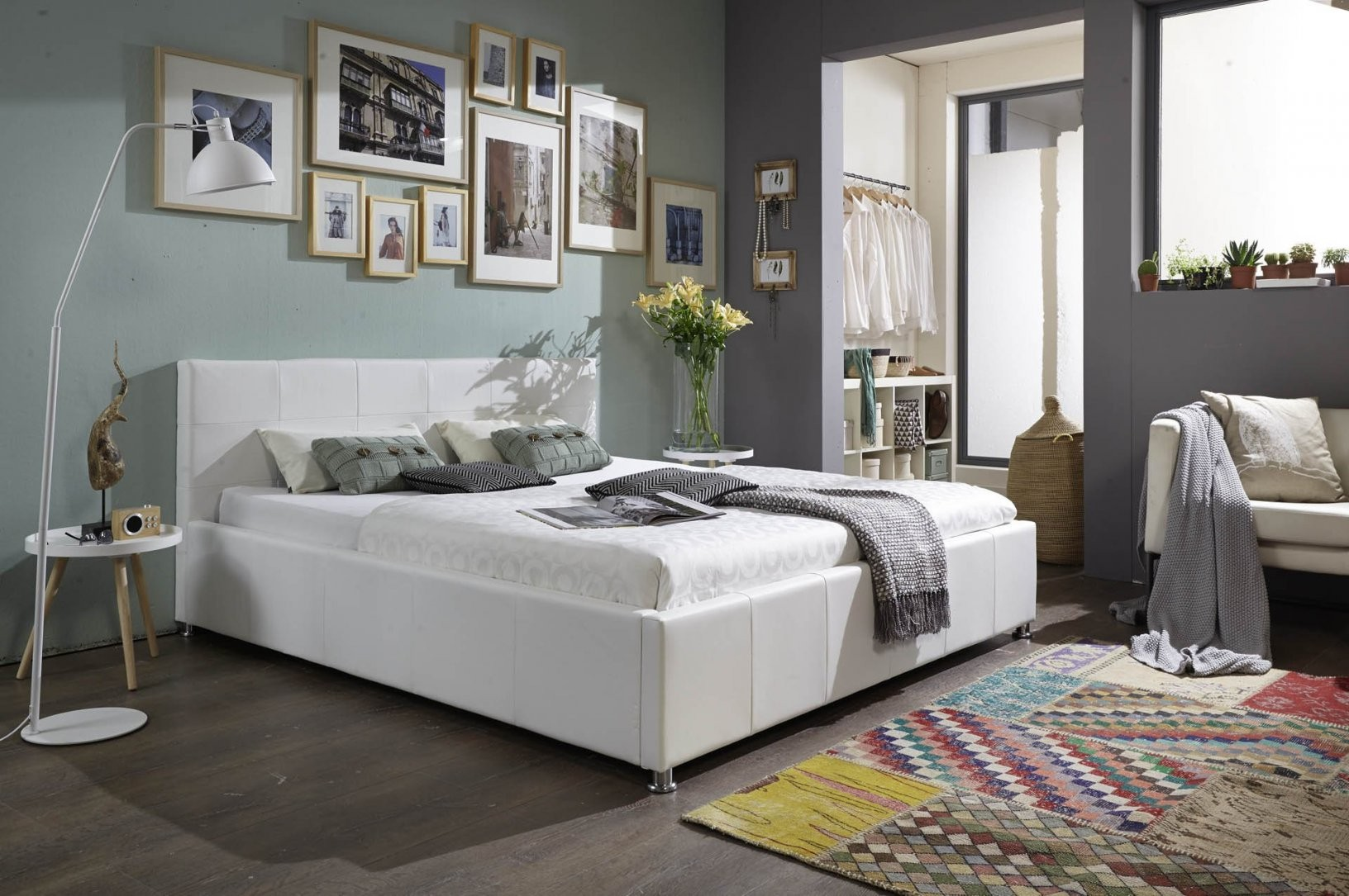Sam® Polsterbett Weiß 180 X 200 Cm Mit Bettkasten Doppelbett Kira von Bett Mit Bettkasten 180X200 Weiß Bild