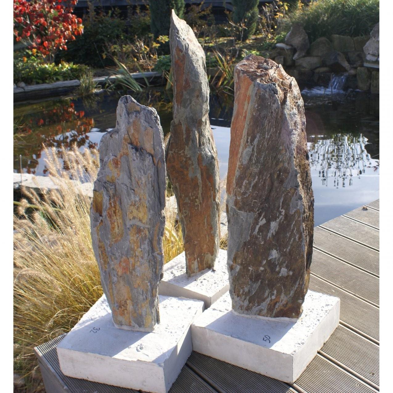 Schiefersäule Rotbraunbunt Bis 130 Cm Kaufen Bei Obi von Steinsäulen Für Den Garten Photo