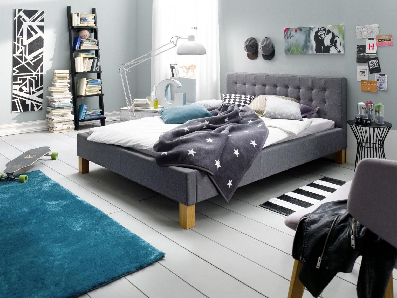 Schlichter® Polsterbett Yes Grau 140X200 Cm  Schlichter® Möbel von Polsterbett Grau 140X200 Photo