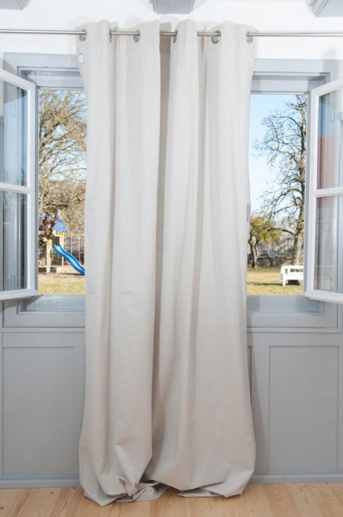 Schöner Wohnen Fertigschal Dekoschal Ösenschal Mono Beige 140X250Cm von Vorhänge Gardinen Schöner Wohnen Bild