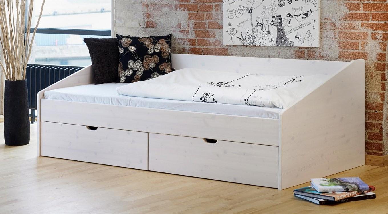 Schönes Einzelbett Aus Buche In 90X200 Cm  Bett Dänemark von Bett Mit Schubladen 90X200 Weiß Photo
