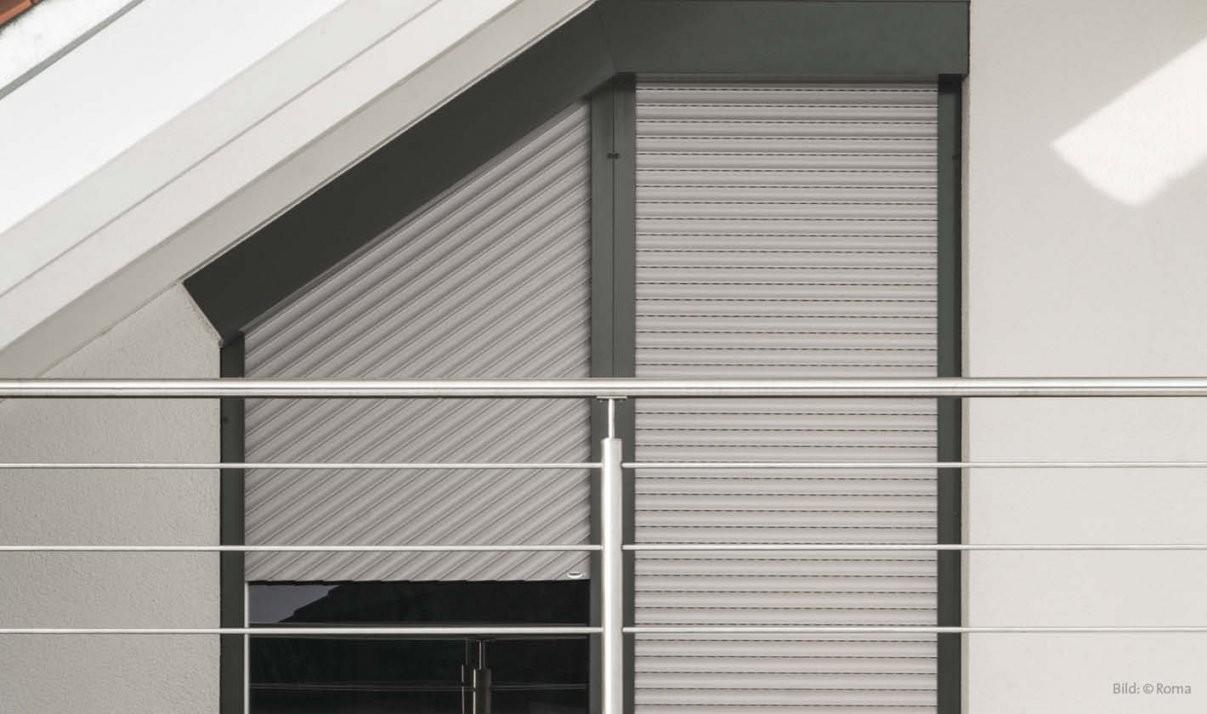Schrägrollladen Für Schräge Fenster von Fenster Rollos Außen Nachrüsten Photo