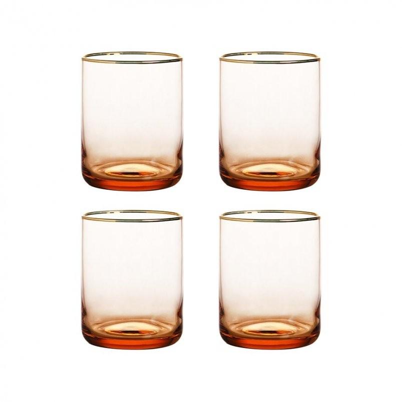 Set Glazen Roze Goud  &klevering von Kaffeetassen Set Glas Bild
