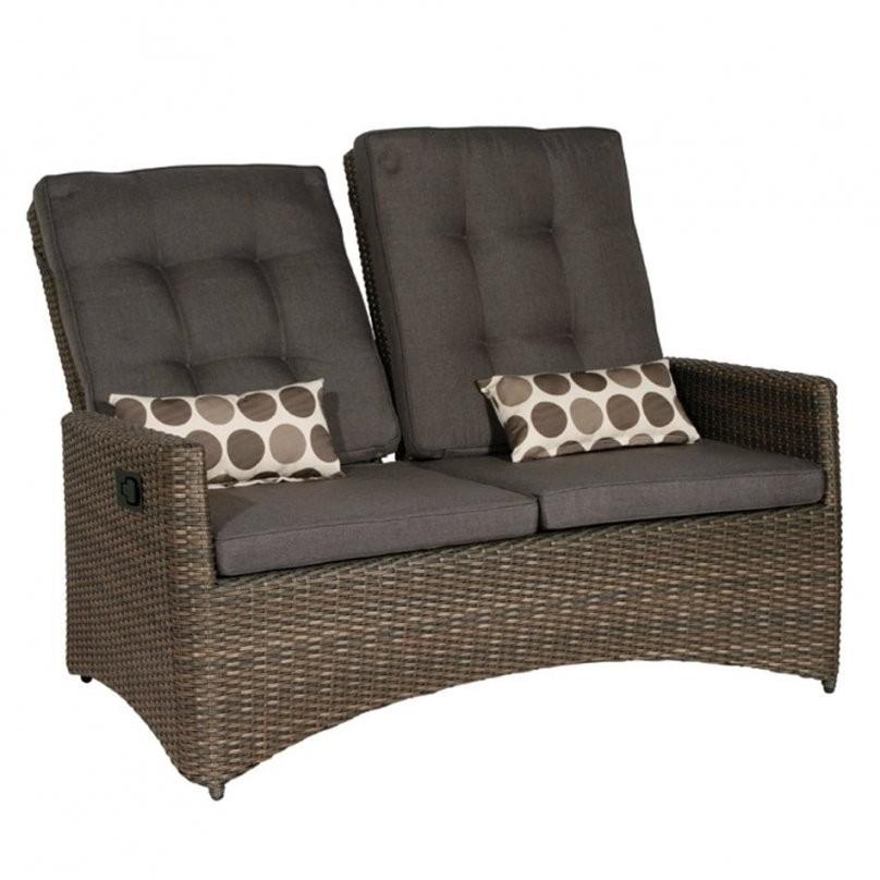 Siena Garden Teramo Move Loungebank Geflecht  Garten & Freizeit von Polyrattan Sofa 2 Sitzer Photo