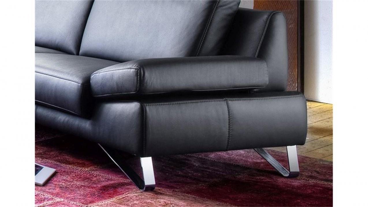 Sofa 3Sitzer Finest In Leder Schwarz Mit Funktionen von Sofa Leder Schwarz 3 Sitzer Bild