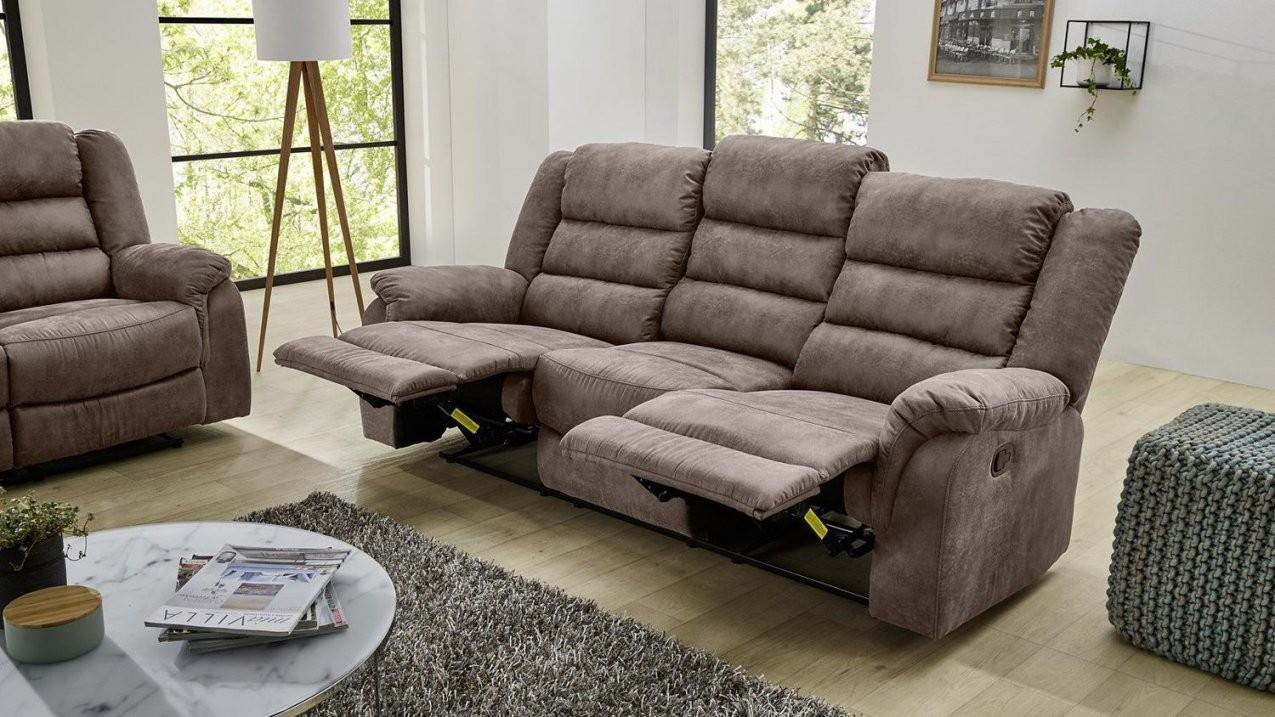 Sofa Cleveland Sessel Relaxsessel 3Sitzer Mit Funktion In Braun 220 von 3 Sitzer Sofa Und 2 Sessel Photo