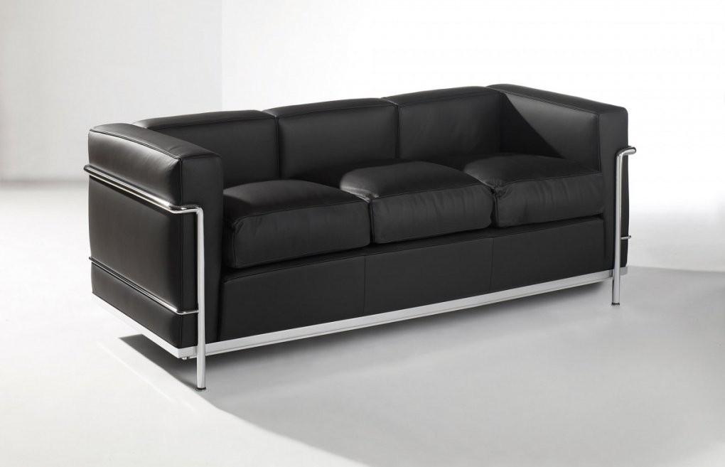 Sofa Lc2 3Sitzer Leder  Designmöbelshop von Sofa Leder Schwarz 3 Sitzer Photo