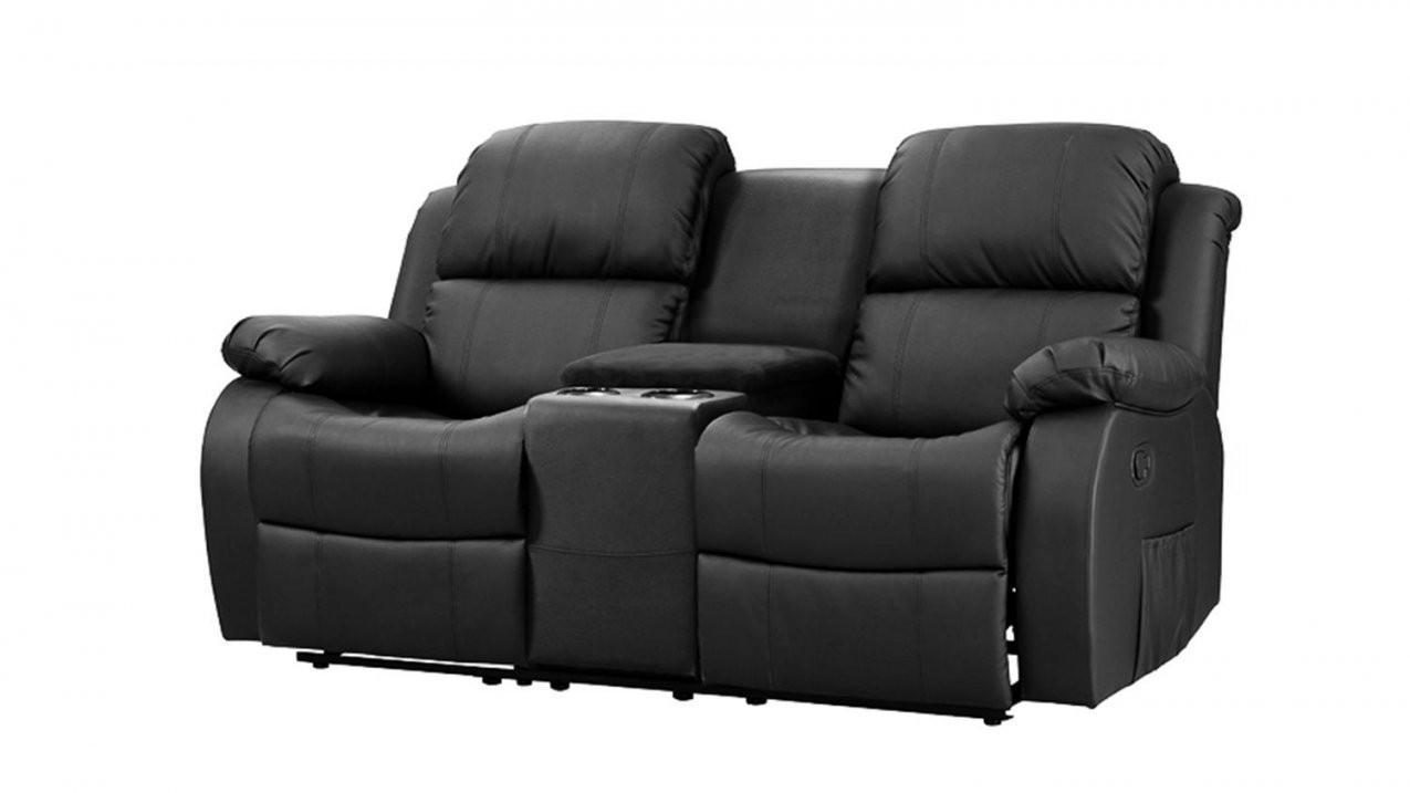 Sofa Mit Teatable Lakos 2Sitzer Kinosofa Schwarz Relaxfunktion von Relax Sofa 2 Sitzer Bild