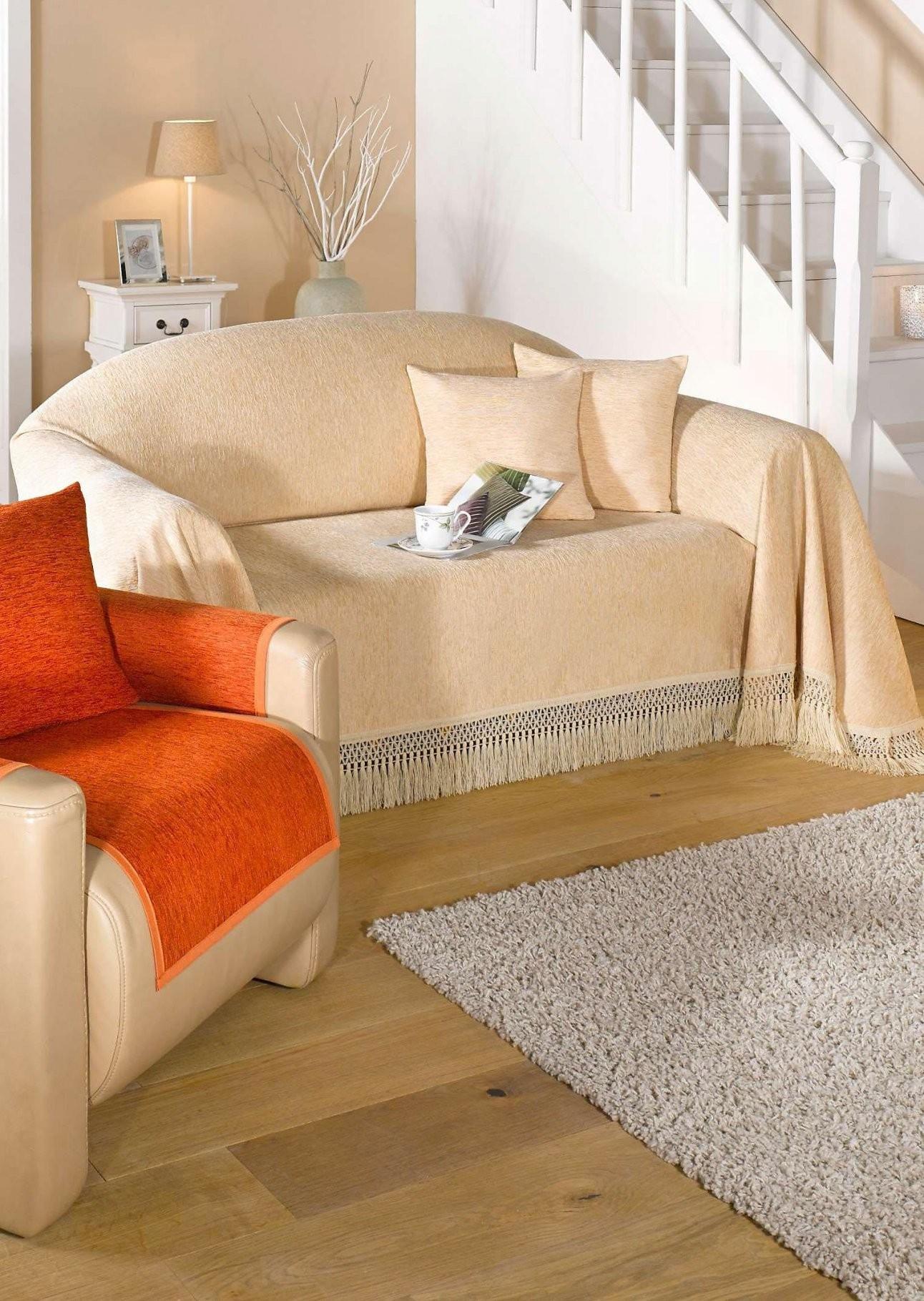 Sofaüberwurf Mit Fransen 3Sitzer Online Kaufen  Atelier Goldner von Sofaüberwurf 3 Sitzer Photo