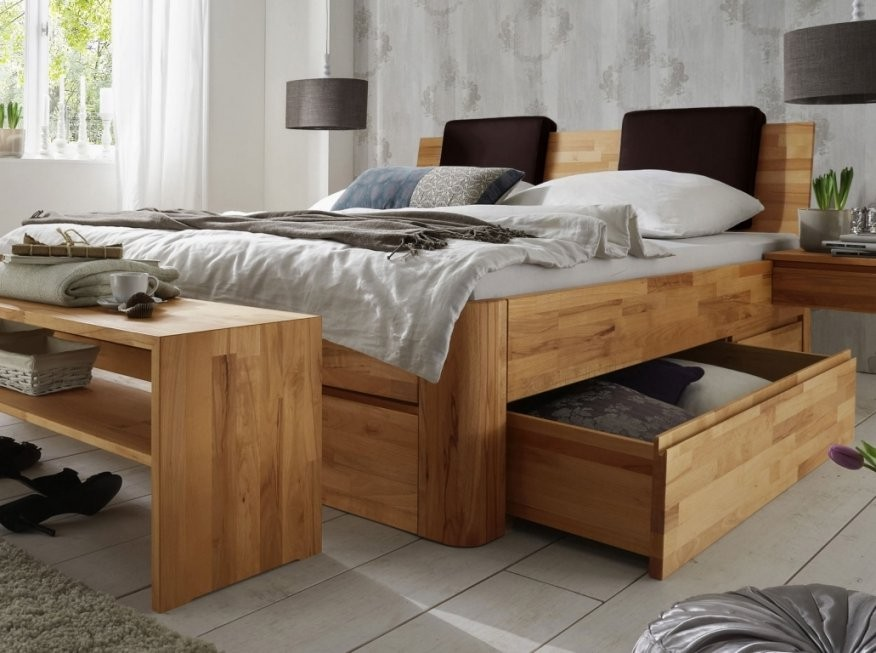 Spannende Bett Massivholz 160×200 Massivholz Doppelbett Mit von Echtholz Bett Mit Bettkasten Photo
