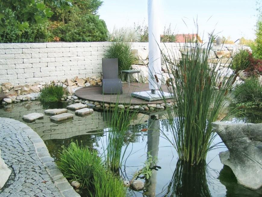 Steine Und Holz  Rhein Main Grün  Garten Und Landschaftsbau von Garten Mit Holz Und Stein Bild
