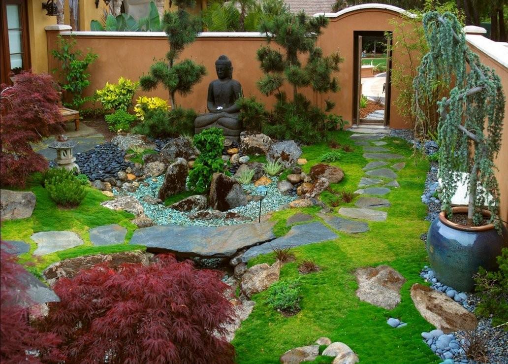 Steingarten 60 Ideen Japanischer Gartengestaltung Für Einen von Kleiner Japanischer Garten Photo