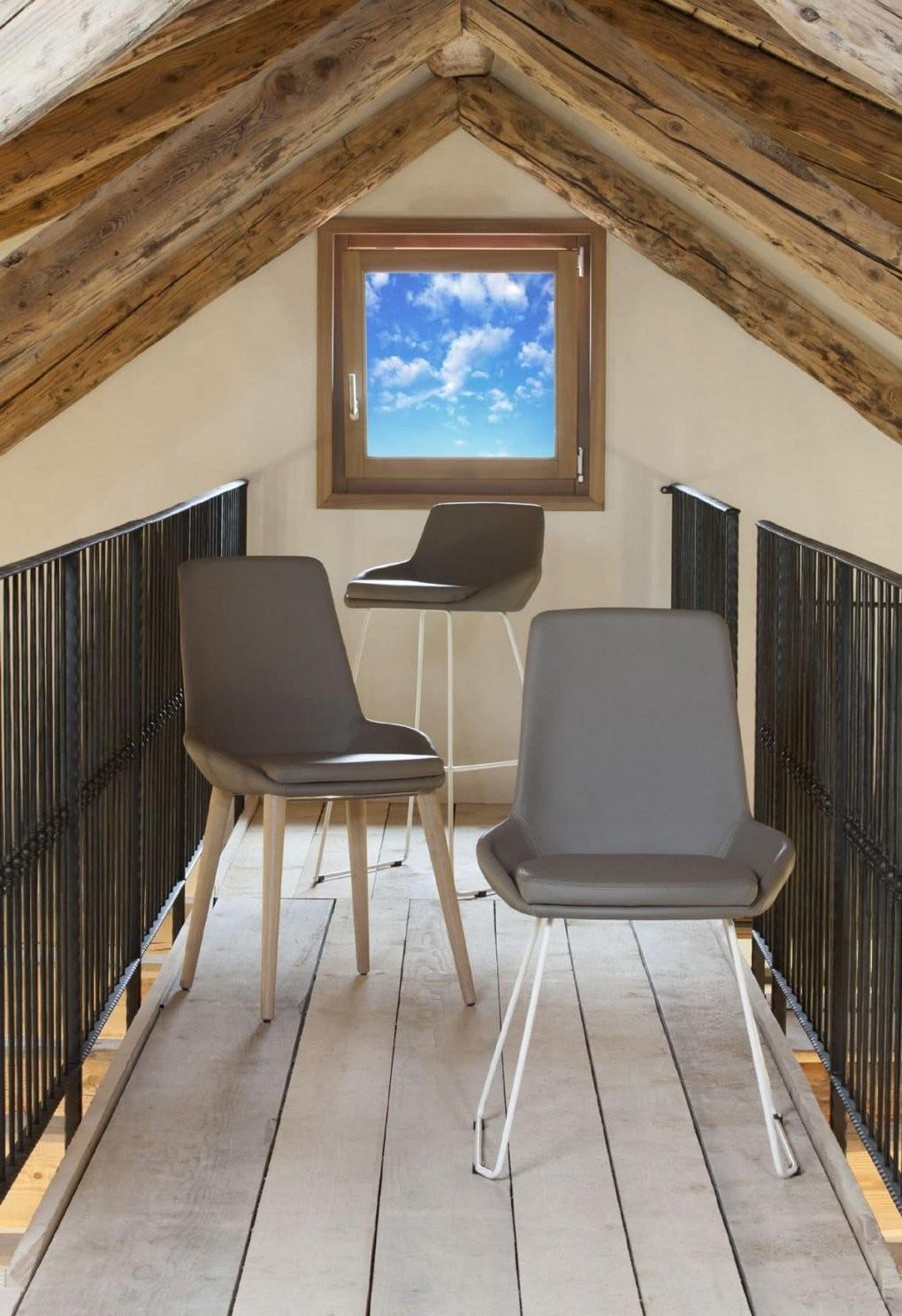 Stuhl Mit Sitz Und Rückenlehne Mit Leder Bezogen Modernes Design von Stühle Modernes Design Bild