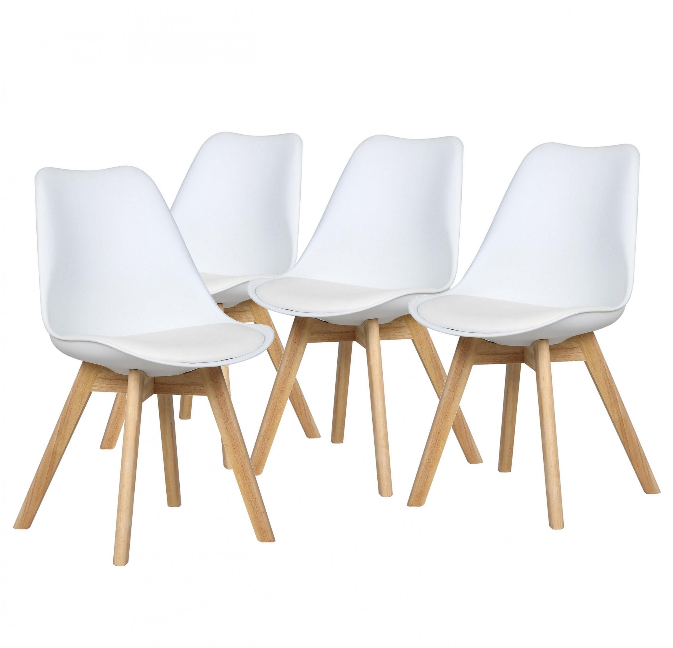 Stühle Malmö  4Er Set Stühle Skandinavisches Design  Weiß Konnte von Stühle Skandinavisches Design Photo