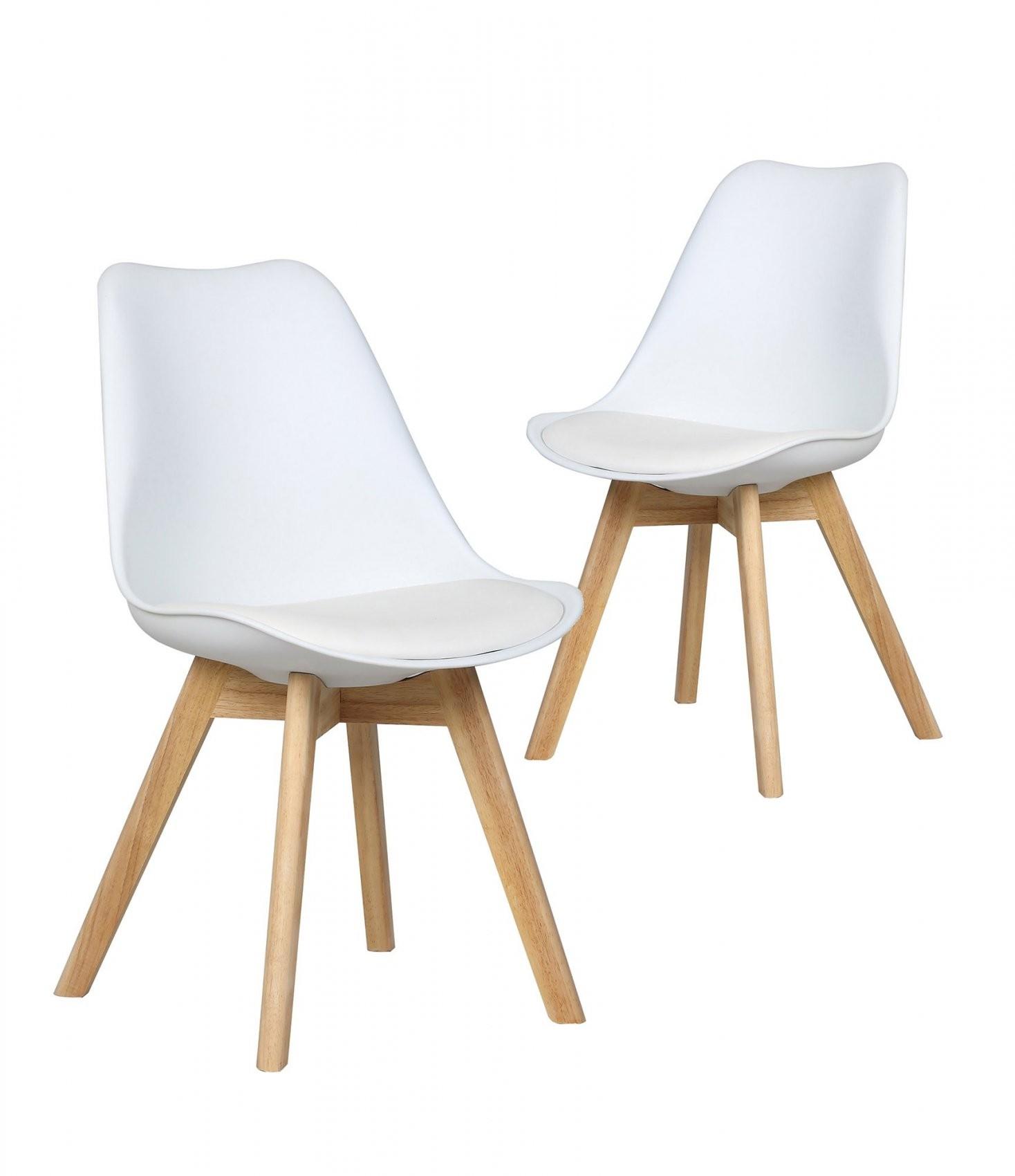 Stühle Malmö  Set (2 Stühle Skandinavisches Design  Weiß Konnte von Stühle Skandinavisches Design Photo