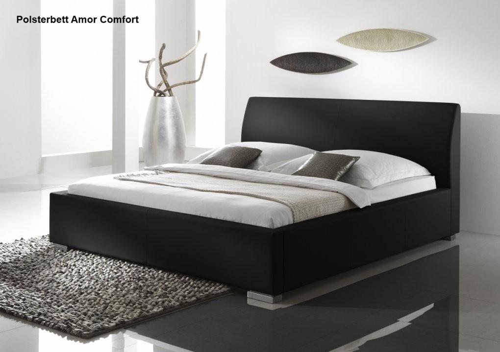 Supply24 Lederbett Polsterbett Amor Leder Bett Weiss+Schwarz 100X200 von Günstige Betten 160X200 Photo