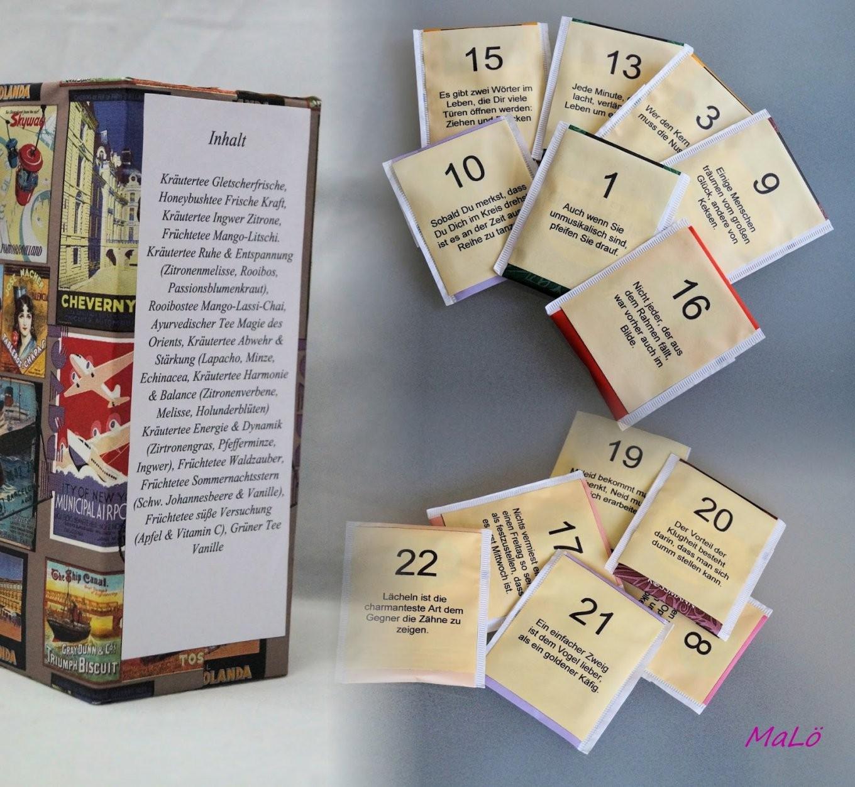 Tee Adventskalender von Adventskalender Mit Sprüchen Selber Machen Bild