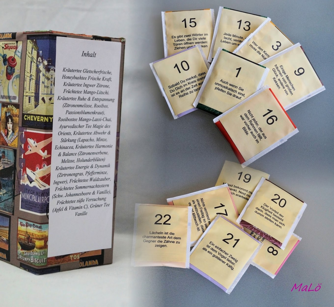 Tee Adventskalender von Adventskalender Tee Selber Machen Photo