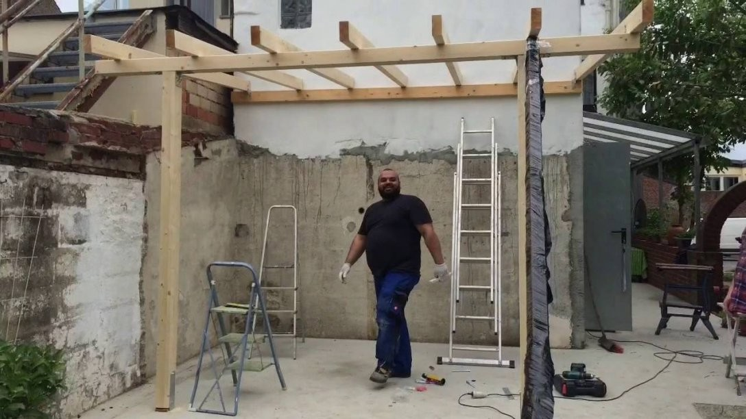 Terassenüberdachung Selber Machen  Youtube von Überdachte Terrasse Selber Bauen Bild