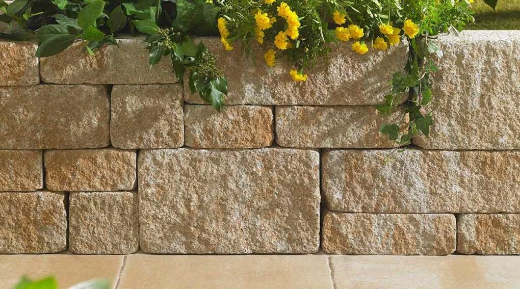 Terra Romamauer Gartenmauern System Terra Roma  Koll Steine von Garten Mauern Steine Bild