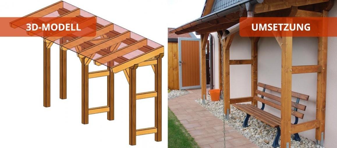 Terrassendach  Holzbausätze Individuell Und Zum Selber Aufbauen von Terrassenüberdachung Selbst Bauen Photo