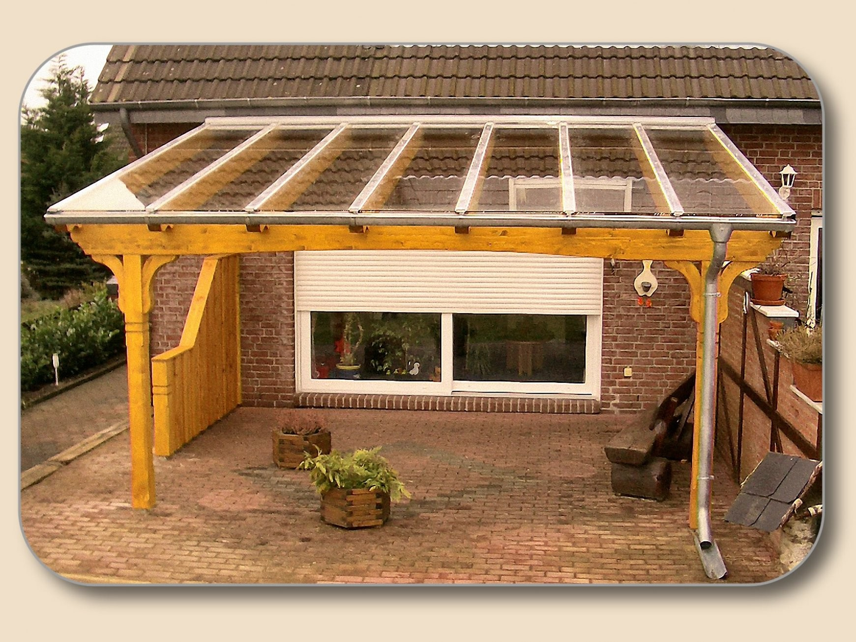 Terrassenüberdachung Glas Vsg Und Holz – Bausatz Von Holzon von Terrassenüberdachung Selbst Bauen Bild