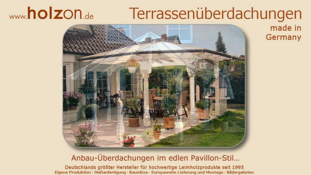Terrassenüberdachung Selber Bauen Aus Holz Glas  Überdachung Bauen von Terrassenüberdachung Glas Selber Bauen Bild