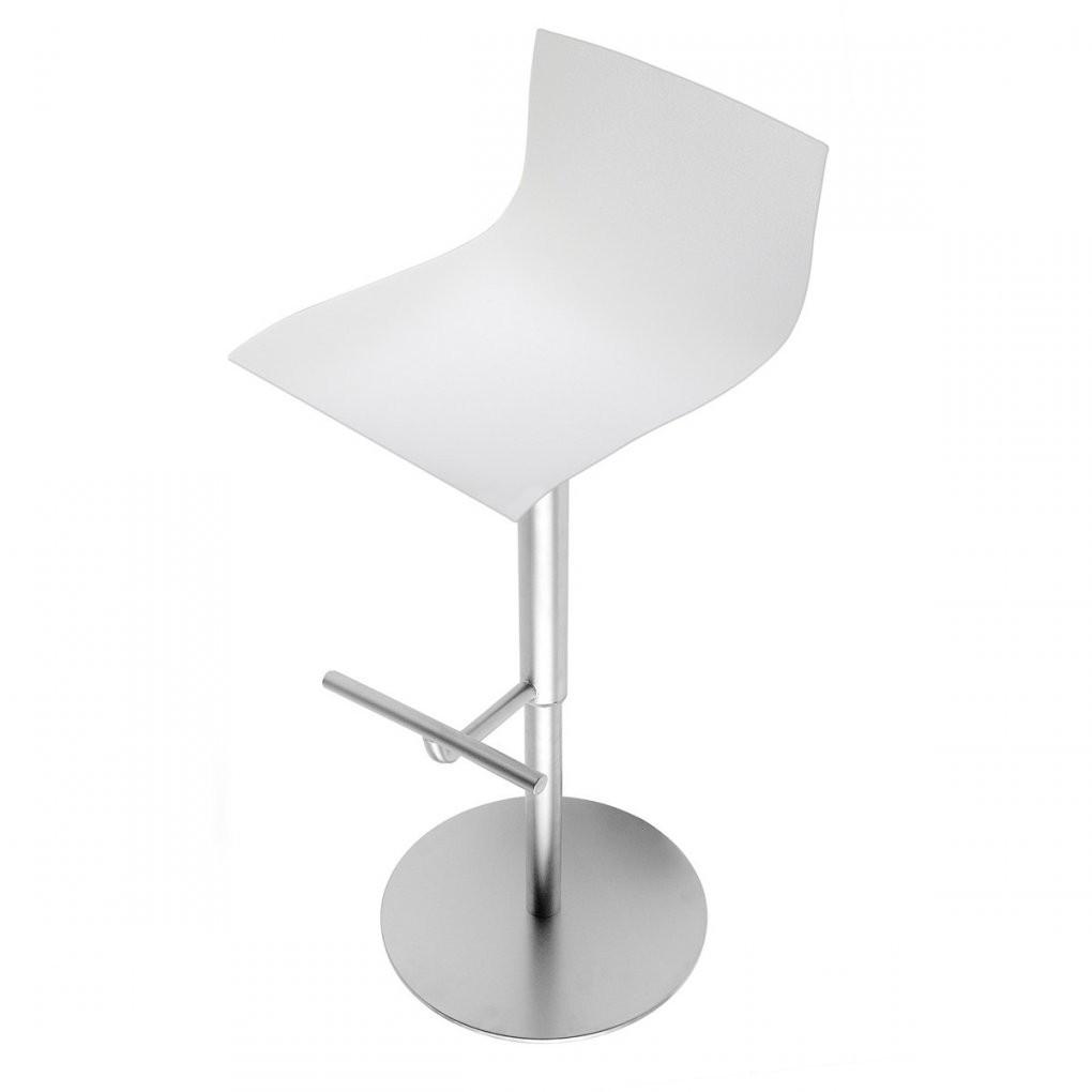 Thin Barhocker Von La Palma  Connox von Barhocker Weiß Leder Bild
