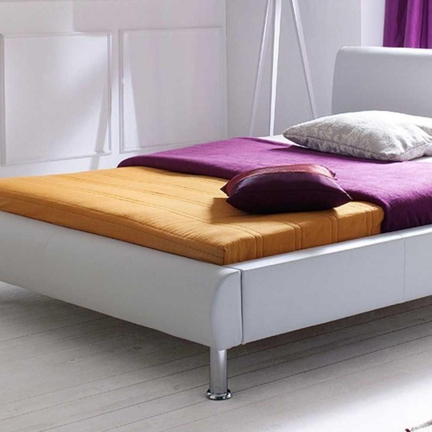 Tolles Kunstlederbett Siela In Weiß 140X200 Cm  Wohnen von Kunstleder Bett Weiß 140X200 Photo