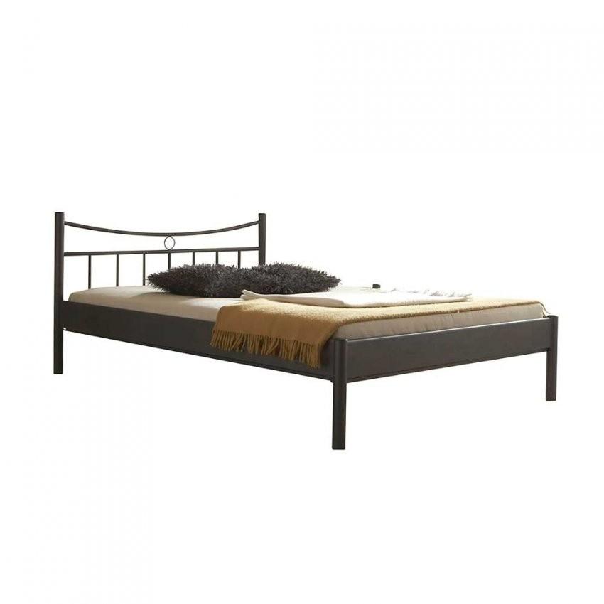 Top Bett Aus Metall In Dunkelgrau  Regina  Wohnen von Bett 120X200 Metall Photo