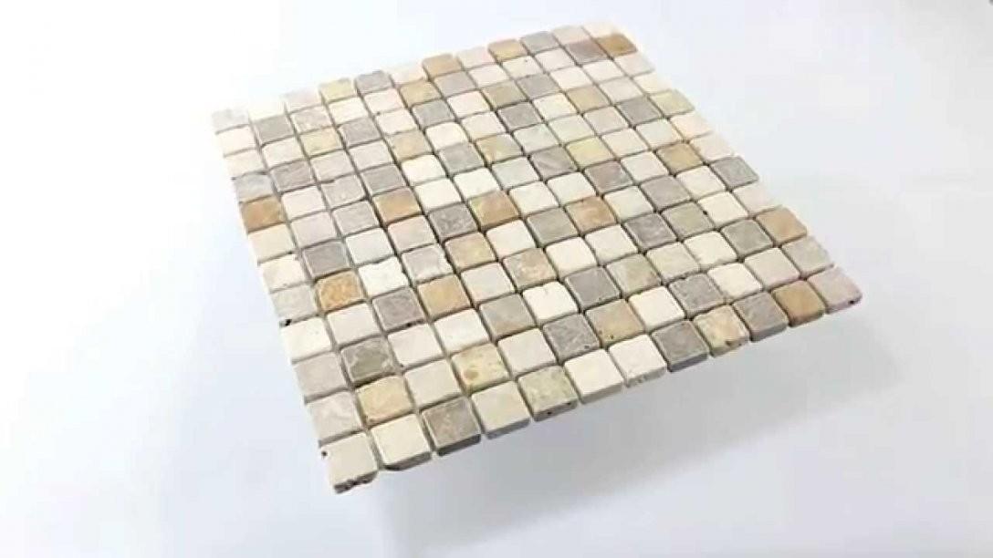 Travertin Naturstein Mosaik Fliesen Braun Beige Rot  Youtube von Hornbach Mosaik Fliesen Bild