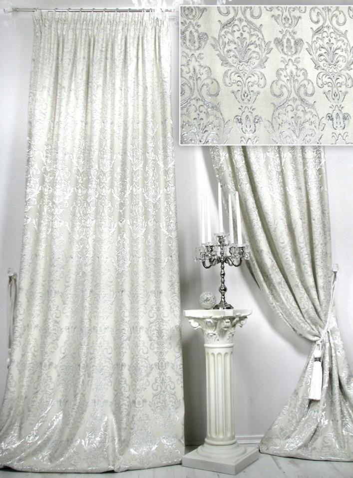 Trendoro Vorhänge Vorhangschal Château Royal Champagnerfarbig von Fertig Gardinen Vorhänge Bild