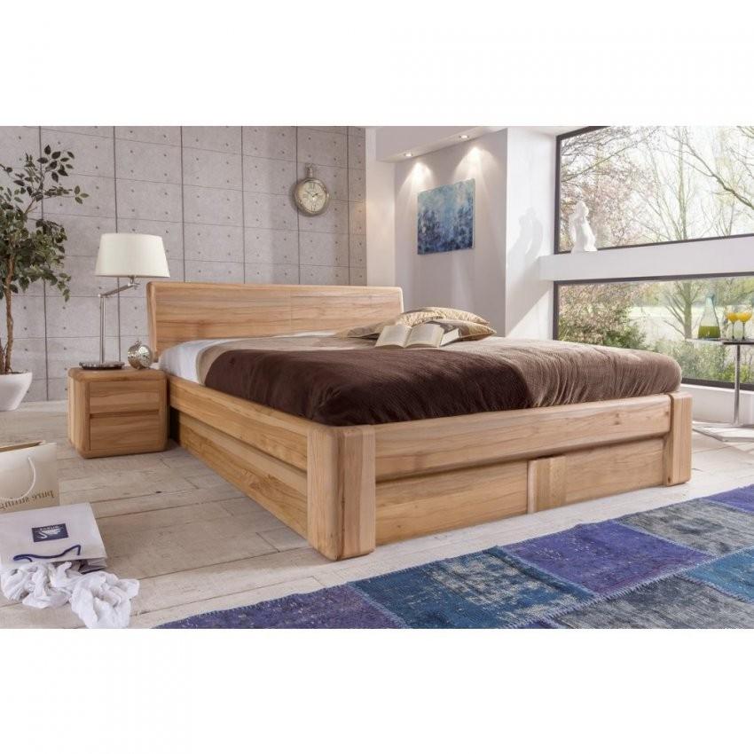 Verona Bett 200X200 Kernbuche Massiv Mit Bettkasten Und Lattenrost von Bett 200X200 Holz Photo