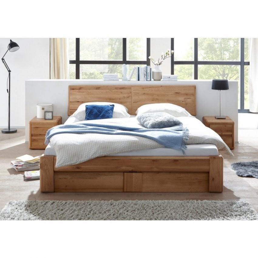 Verona Bett 200X200 Wildeiche Massiv Mit Bettkasten Und Lattenrost von Bett 200X200 Mit Bettkasten Bild