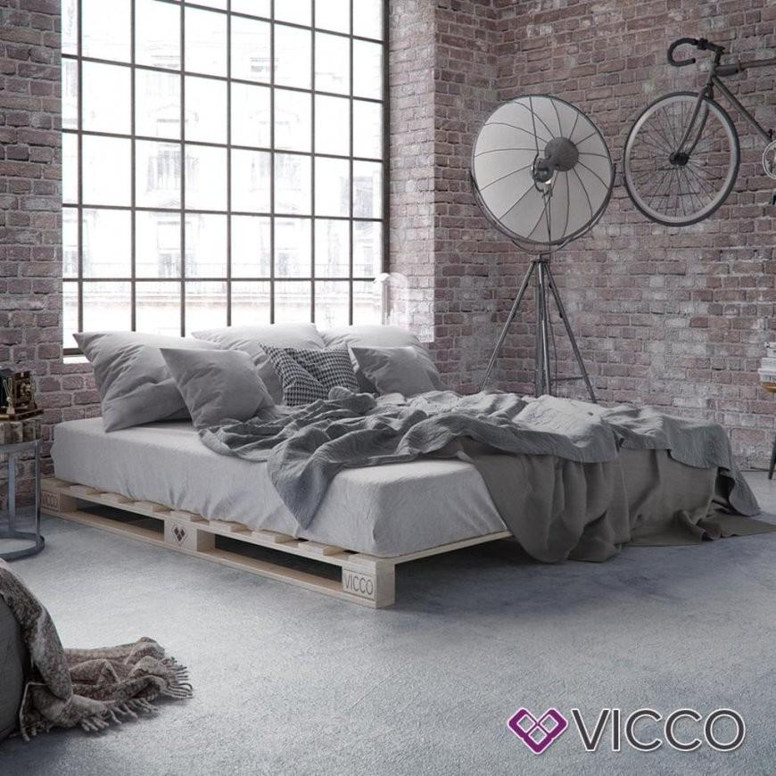 Vicco Palettenbett 120X200 Bett Massivholzbett  Real von Paletten Bett 120X200 Bild