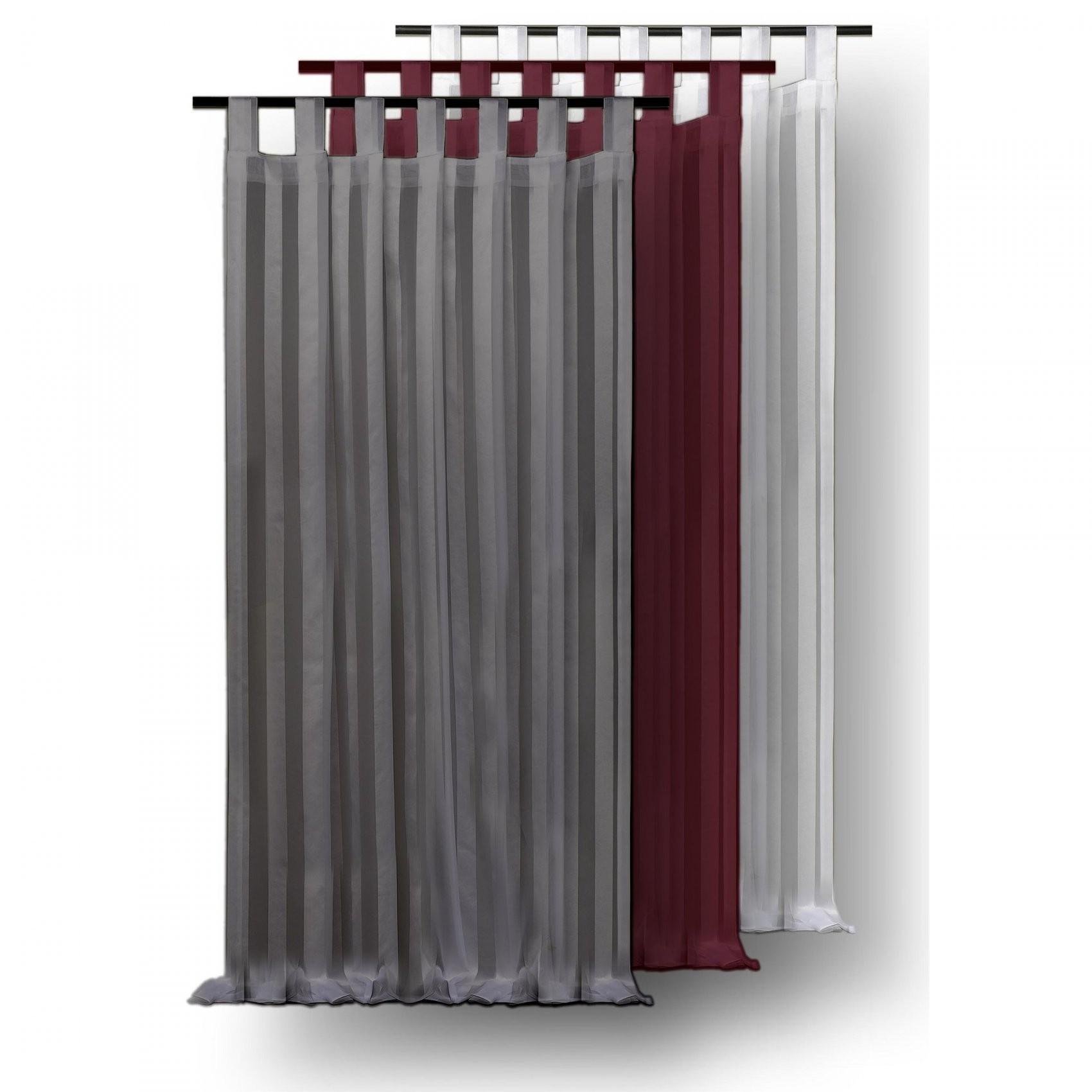 Voile Gardine Streifen Dekoschal 140X175 Cm Halbtransparent von Halbtransparente Gardinen Vorhänge Bild